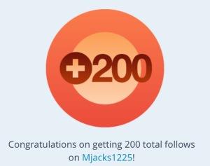 200 foloers